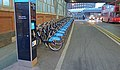 Barclays Bikes on Waterloo Station approach - geograph.org.uk - 2282935.jpg