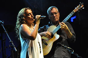 Achinoam Nini - Noa and Gil Dor at the Bardentreffen festival 2014