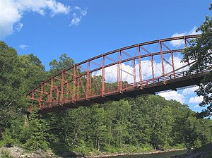 Bardwell's Ferry Bridge - Historic Bardwell's Ferry Bridge over the Deerfield River