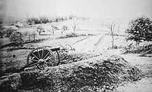 Barlows Knoll after first day's battle, Gettysburg, July 1, 1863.jpg