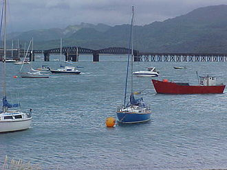 Barmouth Bridge - The north end of the crossing has a swing bridge section to allow tall ships to pass, though it has not seen regular use since testing in the 1980s.