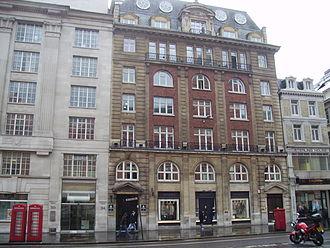 Barnard's Inn - Frontage of Barnard's Inn Buildings. The remains of the Inn lie down the entrance at the right