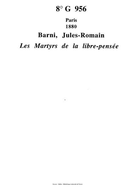 File:Barni - Les Martyrs de la libre-pensée.djvu