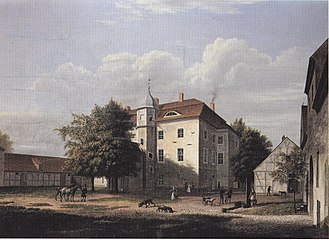 Grunewald - Grunewald hunting lodge, oil on canvas, Wilhelm Barth, 1832