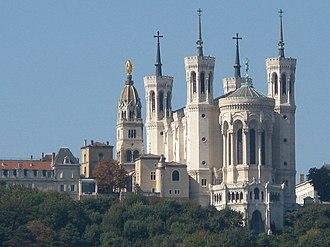Lyon - The Basilica of Notre-Dame de Fourvière