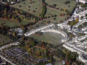 John Wood, the Younger - Aerial view of the Royal Crescent