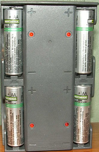 Battery charger - This unit charges the batteries until they reach a specific voltage and then it trickle charges the batteries until it is disconnected.