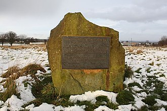 Drighlington - Battle plaque at Adwalton Moor