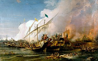 Ottoman Empire - Barbarossa Hayreddin Pasha defeats the Holy League of Charles V under the command of Andrea Doria at the Battle of Preveza in 1538