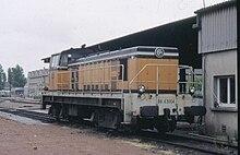 La BB 63004 au dépôt de St Pierre des Corps.