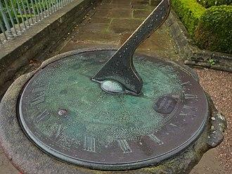 London dial - Image: Beamish Pockerley Sundial 8312