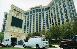 Beau Rivage (Mississippi) - The land entrance side of the Beau Rivage, as seen pre-Katrina in 2002