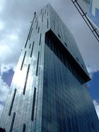 Beetham Tower on Deansgate is one of the tallest buildings in Manchester.