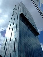 Beetham Tower, Manchester located on Deansgate.