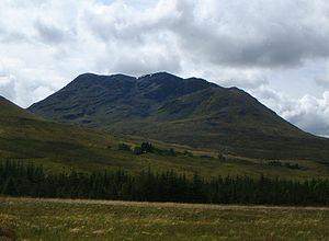 Beinn an Dòthaidh - Beinn an Dòthaidh's rockier northern side from near Achallader farm.