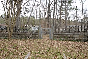 National Register of Historic Places listings in Garland County, Arkansas - Image: Belding Gaines Cemetery, Main Entrance