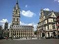 Belgique Gand Sint-Baafsplein Saint-Nicolas Beffroi Halle Draps Theatre 27052015 - panoramio.jpg