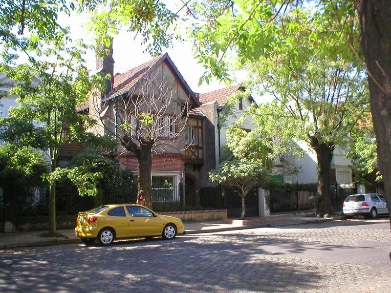 Casas de estilo alemán no distrito de Belgrano.