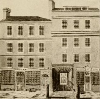 Bell Savage Inn - Archway to the Bell Savage Yard from Ludgate Hill, 1782