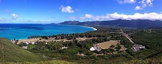 Bellows Air Force Station - View of Bellows from ridge above Lanikai