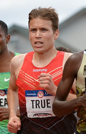 Ben True - Ben True running 5000 m at the 2016 Olympic Trials
