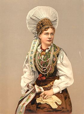 Benedikt Lergetporer - Girl in Native Costume, Carniola, Austro-Hungary