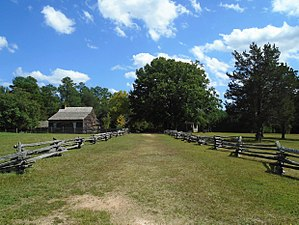Bennett Place - Original road connecting Durham Station and Hillsborough, NC.  The Confederate General Johnston and Union General Sherman met on this road and asked the Bennett family if they could use their house to hold a meeting to discuss terms of surrender.