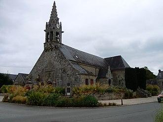 Berné - The parish church in Berné