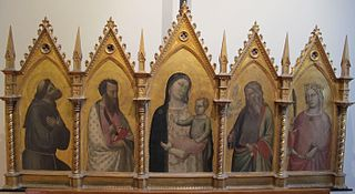 Polyptych of the Madonna and four saints