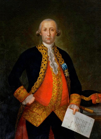 Retrato de Bernardo de Gálvez.