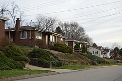 Residential neighborhood on Berry Street