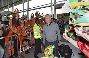 Bert van Marwijk - Van Marwijk at Schiphol prior to the Netherlands' run to the final at the 2010 World Cup.
