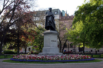 Jöns Jacob Berzelius - Statue of Berzelius in the center of Berzelii Park, Stockholm