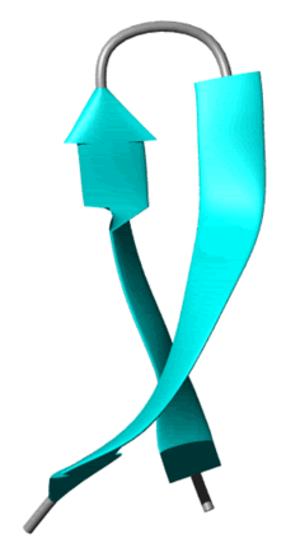 Beta hairpin - Cartoon representation of a β-hairpin