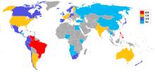 Le nazioni che hanno vinto uno o più titoli dei concorsi di bellezza più importanti.