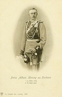 Prince Albert of Saxony (1875–1900) Saxon prince from the House of Wettin