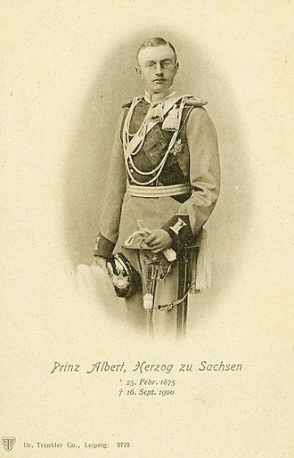 Prince Albert of Saxony (1875–1900) - Image: Bild 2 Prinz Albert