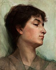 Study of a young woman.