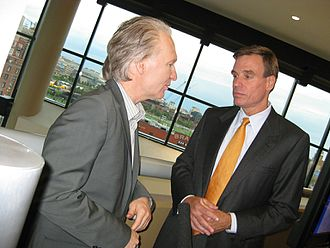 Bill Maher - Maher with Senator Mark Warner (D-VA)