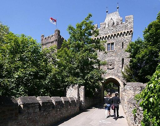 Bingen Burg Klopp Eingangsbrücke und Tor