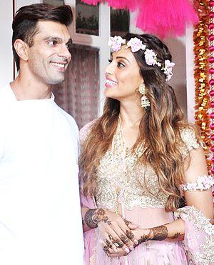 Karan Singh Grover - Grover with his wife Bipasha Basu