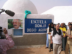 "Inauguration of the school ""José Ramón Diego Aguirre"" in Bir Lehlou, May 20, 2005"
