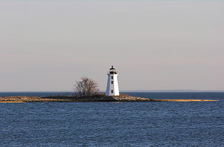 Black Rock Harbor Light lighthouse in Connecticut, United States