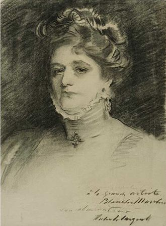 Blanche Marchesi - sketch of Marchesi by John Singer Sargent (c. 1910)