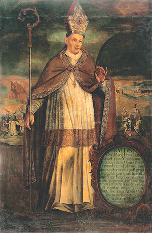 Vitas (bishop) - 17th-century portrait of Vitas