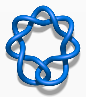 Twist knot - A twist knot with six half-twists.