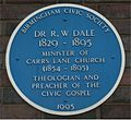 Blue Plaque R W Dale.jpg