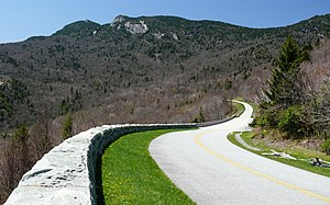 Blue Ridge Parkway - The parkway near Grandfather Mountain