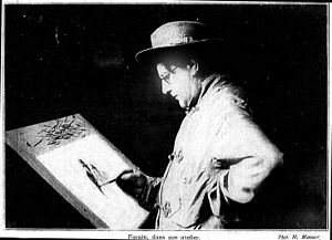 Jean-Louis Forain - Jean-Louis Forain drawing in his studio
