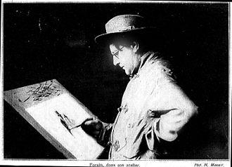 Jean-Louis Forain - Jean-Louis Forain drawing in his studio